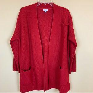 J. Jill cardigan sweater heathered red petite